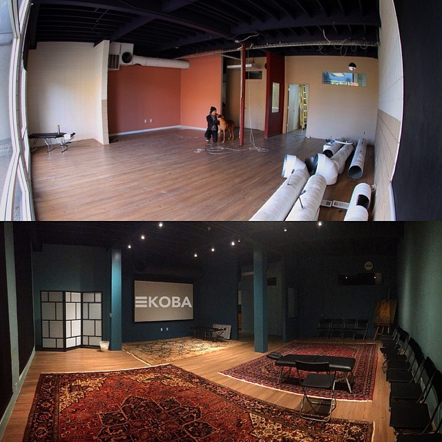 KOBA presents: Before & After. Throwback to 3 months ago when our Open Adjusting Room looked like a warehouse. #KOBA #chiropractic #neurology #nutrition #Berkeley #throwback #tbt #laboroflove #construction #beforeandafter #transformation #entrepreneurship #YUMMIES #KOBAatKOBA