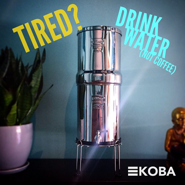 KOBA presents: Our new Royal #Berkey water purification system! Midday fatigue is commonly caused by mild dehydration. So when you feel that afternoon slump try a few glasses of fresh water! #KOBA #chiropractic #neurology #nutrition #Berkeley #WednesdayWisdom #caffeinefree #water #healthtips #holistichealth #detox #nocoffee #hydrate #thirsty #allnatural #h2o #rootcause #thecause #notthesymptom #paleo #aip