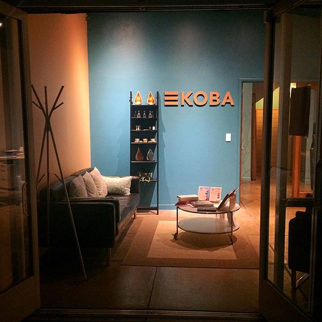 KOBA in the evening. The ever shifting welcome room. -------------- #KOBAchiropractic #Berkeley #chiropractic #neurology #nutrition #homeopathy #bioenergeticmedicine #functionalmedicine #signage #lasercut #letters #logo #logotype #typography #design #cardboard #recetch #reclamationetchworks #entrepreneur #drnatasha #drnatashafallahi #drtituschiu