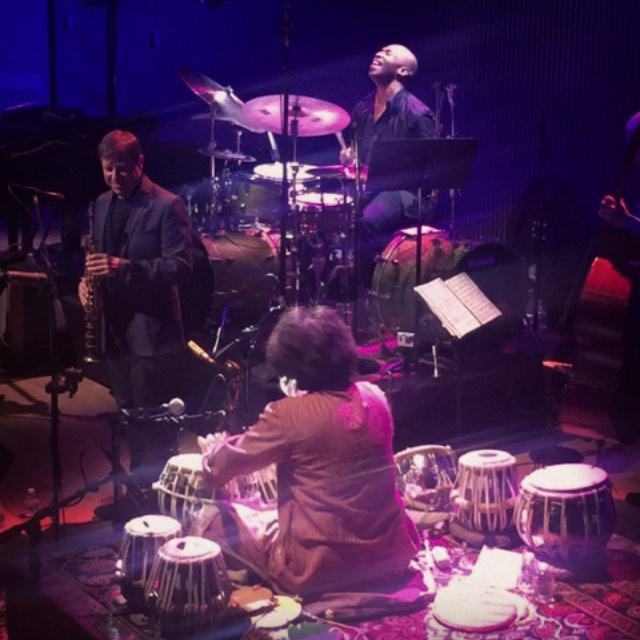 We adore these two drummers. #KOBAchiropractic #datenight #SFJAZZ #ZakirHussain #EricHarland #DaveHolland #ChrisPotter #ShankarMahadevan #LouisBanks #SanjayDivecha #drums #tabla
