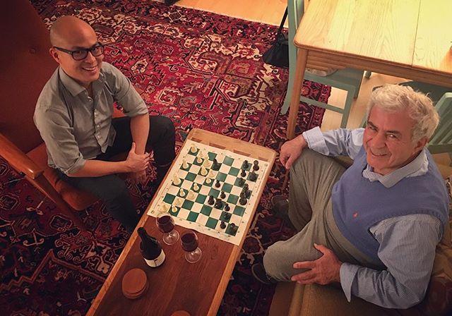 Chess, red wine and family time. Keeps the heart soft and the mind sharp. #functionalneurology #neurology #brain #functionalmedicine #brainhealth #chess #braingames #wine #redwine #Nrf2 #resveratrol #guthealth #glutenfree #grainfree #dairyfree #ketogenic #keto #familytime #unplugged #cupofjamshid #DrTitusChiu #DrNatashaF