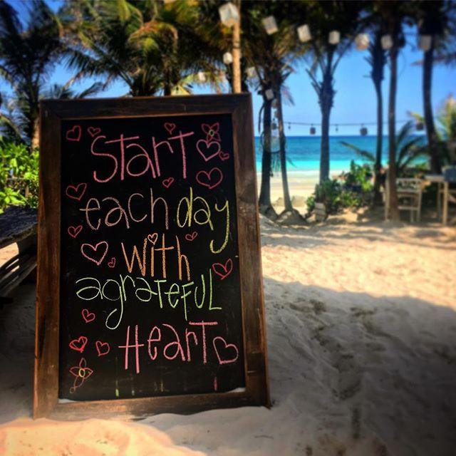 ️  #gratitude #heart #tulum #mexico #betulum #mayanriviera #rivieramaya #beach #travel #healing #DrNatashaF