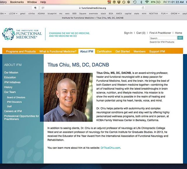 Over a decade ago, when I first embarked upon my Journey as a student, doctor and now professor of neurology and natural medicine, it was my absolute dream to speak for the Institute for Functional Medicine– THE global leader in Functional Medicine training.  So I am absolutely thrilled to announce that I've been chosen to speak with the GIANTS and THOUGHT LEADERS of neurology and natural medicine– @davidperlmutter, @drterrywahls, Dr. Norman Doidge, Michael Merzenich and my good friend Datis Kharrazian at the IFM's Annual International Conference in LA this year!! Thanks to Kristi Hughes and Dan Lukaczer for your help in making this happen!  #themodernbrain #dreamscometrue #brainhealth #instituteforfunctionalmedicine #naturalmedicine #holisticmedicine #neuroplasticity #GABA #glutamate #gutbrainaxis #probiotics #microbiome #polyphenol #mitochondria #glutathione #brainhealth #functionalneurology #functionalmedicine #neurology #nutrition #KOBA #KOBAfamilywellness #drtituschiu