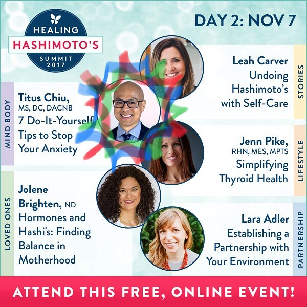 DAY 2 is DR CHIU Today @drnatashaf interviewed ME on the MINDBODY track! . We get hands-on  showing you 7 DIY WAYS TO STOP ANXIETY! Plus our friend @drjolenebrighten is rocking Hashis and Hormones. Learn with me today online for free…link in my profile. . . . #healinghashimotos #hashimotos #autoimmune #thyroid #autoimmuneprotocol #guthealth #brainhealth #gfdf #paleo #aip #diy #brainhacks #documentary #chronicdisease #chronicillness #hsp #sensitive #intuitive #chiropractic #nutrition #functionalmedicine #functionalneurology #homeopathy #KANARILife #CelebrateTheSensitive #TheModernBrain #helloKOBA #DrTitusChiu #DrNatashaFallahi #DrNatashaF