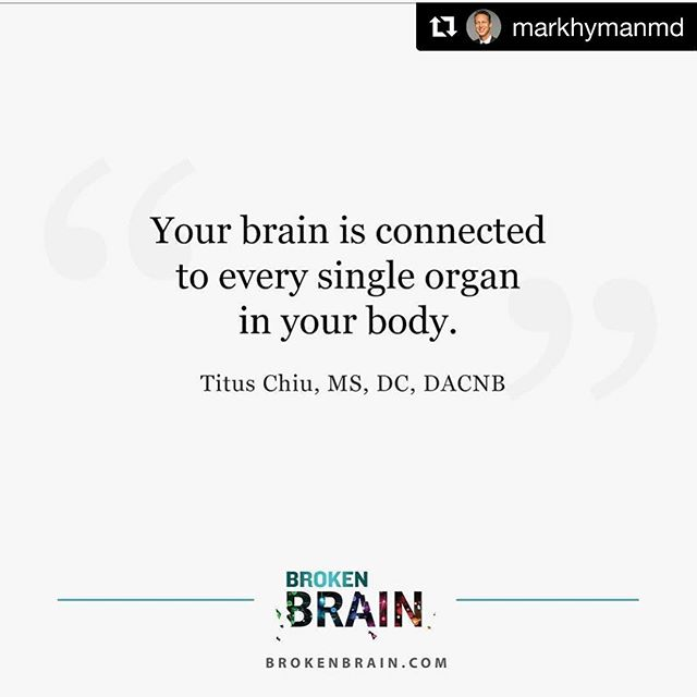 Stoked to be featured on @markhymanmd's Instagram feed! Like me, Mark is on a mission to transform the face of healthcare for the 1 BILLION people around the globe suffering from broken brains. . Join me and 58 other brain experts @davidperlmutter @drterrywahls @jj.virgin @dave.asprey Dr. Datis Kharrazian @chriskresser @drrobmelillo @izabellawentzpharmd @doctors_kitchen @drgabriellelyon @maxlugavere and more for the world premiere of @markhymanmd's Broken Brain documentary on January 17th. . I share my personal story of healing and some practical things you can do to improve your brain health today. . Click live link in profile 🏾to get FREE access! . . . #BrokenBrain #brainhealth #concussion #TBI #anxiety #depression #evolutionofneurology #holistichealth #endAlzheimers #lifesmission #Sensorigenomics #functionalmedicine #functionalneurology #instituteforfunctionalmedicine #TheModernBrain #gutbrainconnection #neurologymatters #healtheguthealyourbrain #brainmaker #KOBA #drtituschiu