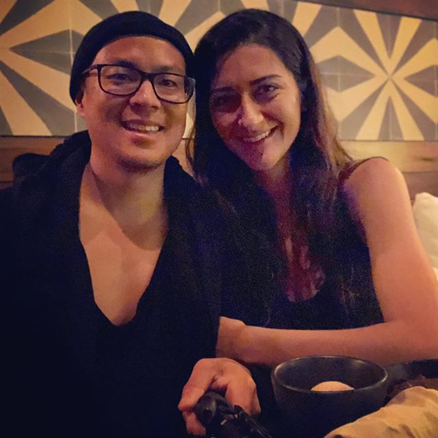 Happy birthday to my Persian Pisces princess! Acting silly at @drnatashaf birthday dinner. . The best medicines are: . 1. Food 🥓 2. Love ️ 3. Laughter 🤣 . . . #tulum #beachlife #workhard #playhard #laughharder #thisishoweeroll #foodasmedicine #laughteristhebestmedicine #healingnomads #pisces #scorpio #firewater #drtituschiu #drnatashaf #themodernbrain