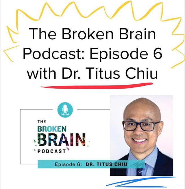 Check out the great conversation I had with my friend @dhrupurohit on the sixth episode of @markhymanmd Broken Brain podcast! I tell a personal story of how I healed my own broken brain , talk about my new bestselling book 🥇, geek out over neural networks, and share a bunch of simple tips you can do right now to protect and care for your most precious of organs- your brain 🧠 • Live link in profile! 🏾 • • • #BrokenBrain #brainhealth #concussion #TBI #anxiety #depression #postconcussionsyndrome #evolutionofneurology #holistichealth #endAlzheimers #lifesmission #Sensorigenomics #functionalmedicine #functionalneurology #instituteforfunctionalmedicine #TheModernBrain #gutbrainconnection #neurologymatters #healyourguthealyourbrain #brainmaker #KOBA #drtituschiu