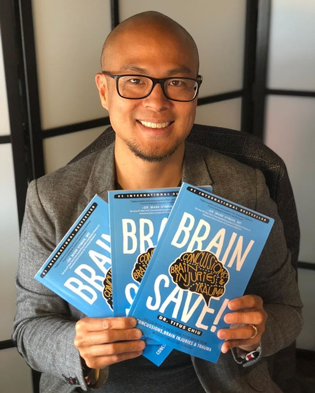 BRAINSAVE! GIVEAWAY Hot off the press! In less than 3 months of print, my book has become an international best-seller! To thank you all, I'm giving away free paperbacks! . The book is a DIY guide to recovering from post-concussion syndrome without drugs or surgery! You'll find fun and easy to read tips using food, supplements and simple brain exercises to heal from concussion! . Win 2 free copies for you and a friend! To enter, just tag someone in the comments and at the end of the week I'll randomly pick a winner and send you each a book!👬👭 . Also available on Amazon. Link in bio! . . . #giveaway #giveawaycontest #bestseller #concussion #braininjury #tbi #postconcussionsyndrome #pcs #trauma #autoimmune #aip #paleo #ketogenic #foodasmedicine #brainhacks #biohacking #neuroplasticity #gutbrainaxis #microbiome #brainhealth #brokenbrain #functionalneurology #functionalmedicine #neurology #nutrition #drtituschiu #drnatashaf #themodernbrain #BrainSAVE!